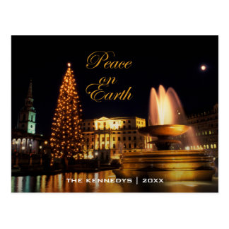 Peace - Trafalgar Square at Christmas, London. Postcard
