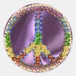 Peace Treasure Classic Round Sticker