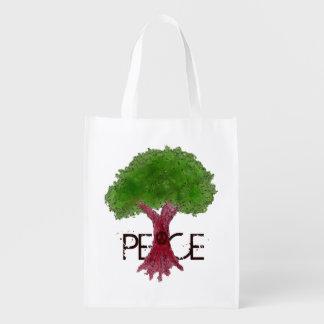 Peace Tree Grocery Bag