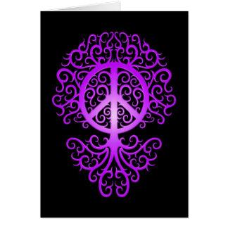 Peace Tree, purple and black Card