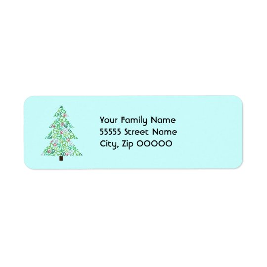 Peace Tree Return Address Label