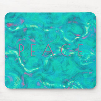 Peace Under the Caribbean Sea Abstract Art Mouse Pad