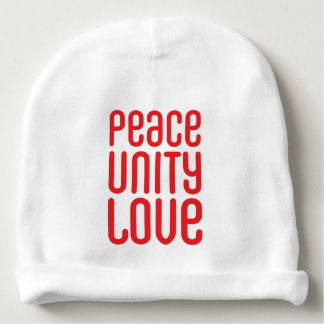 PEACE UNITY LOVE ♥ BABY BEANIE