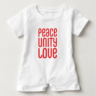 PEACE UNITY LOVE ♥ BABY BODYSUIT