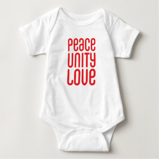 PEACE UNITY LOVE ♥ BABY BODYSUIT