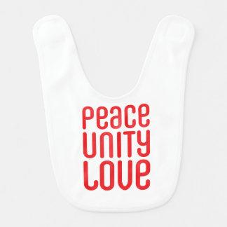 PEACE UNITY LOVE ♥ BIB