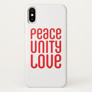 PEACE UNITY LOVE ♥ iPhone 7, Barely There iPhone X Case