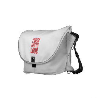 PEACE UNITY LOVE ♥ Messenger Bag Outside Print