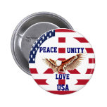 Peace,Unity,Love,USA_Button