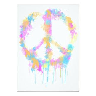 Peace Watercolor Design Invitation/Greeting Card