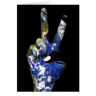 Peace with Earth Greeting Card