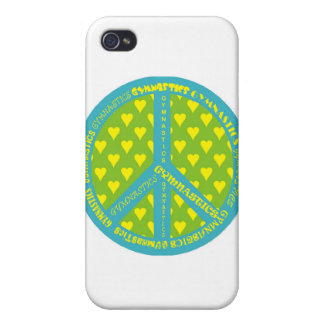 Peace with Gymnastics in frame iPhone 4/4S Covers