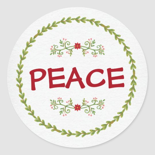 PEACE with Holiday Greens | sticker