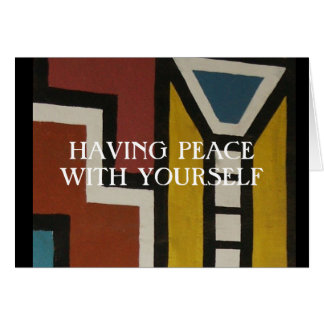 PEACE WITH YOURSELF CARD