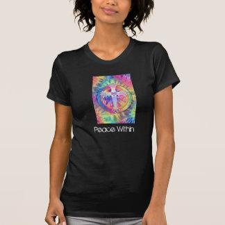 Peace Within Tye Dye Cross Shirt