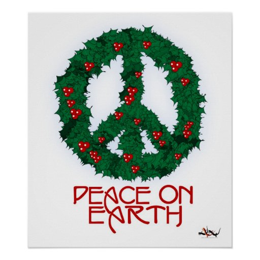 Peace Wreath Poster