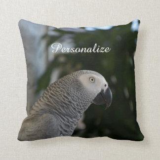 Peaceful African Grey Cushion