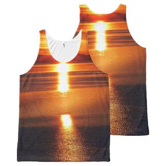 Peaceful Alaska Sunset All-Over Print Tank Top