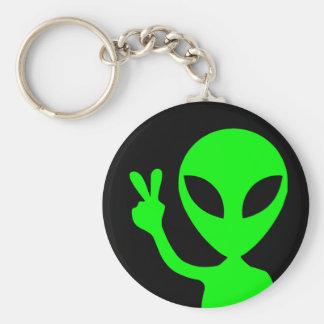 Peaceful Alien Key Ring