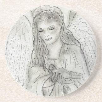 Peaceful Angel Coasters