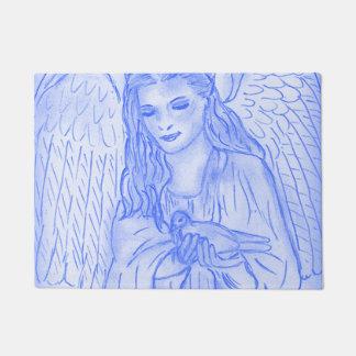 Peaceful Angel in Blue Doormat