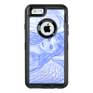 Peaceful Angel in Blue OtterBox Defender iPhone Case