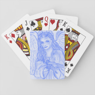 Peaceful Angel in Blue Playing Cards