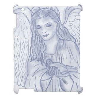 Peaceful Angel in Dusky Blue iPad Covers