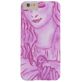 Peaceful Angel in Pink Barely There iPhone 6 Plus Case