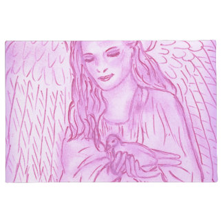 Peaceful Angel in Pink Doormat
