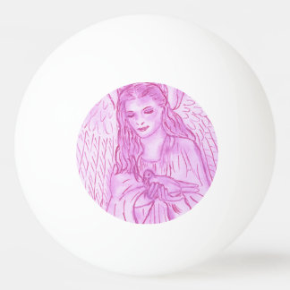 Peaceful Angel in Pink Ping Pong Ball