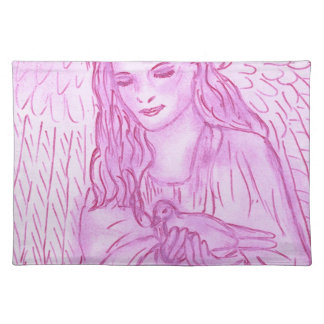 Peaceful Angel in Pink Placemat