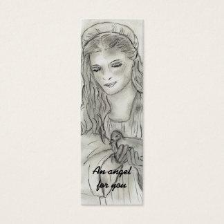 Peaceful Angel Prayer Postcard Mini Business Card