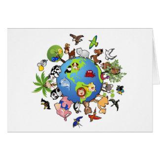 Peaceful Animal Kingdom - Animals Around the World Card