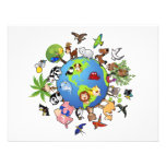 Peaceful Animal Kingdom - Animals Around the World Personalized Announcement