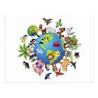 Peaceful Animal Kingdom - Animals Around the World Postcard