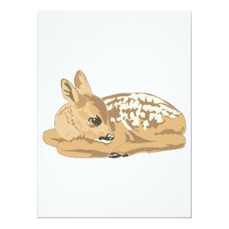 peaceful baby deer fawn custom invites
