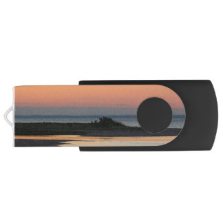 Peaceful Beach at Sunset Customizable USB Flash Drive