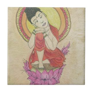 Peaceful buddha ceramic tile