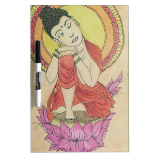 Peaceful buddha dry erase whiteboards