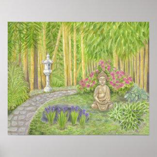 Peaceful Buddha Garden art print