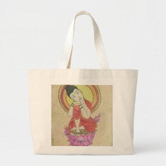 Peaceful buddha large tote bag