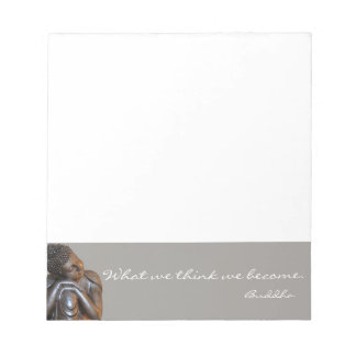 Peaceful Buddha with inspirational quote Notepad