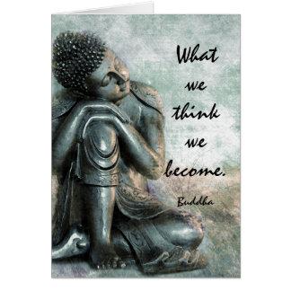 Peaceful Buddha words of wisdom Card