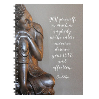 Peaceful Buddha You Deserve Your Love Wise Quote Notebook