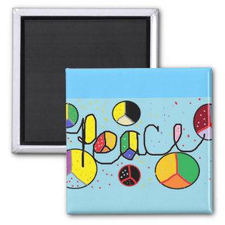 peaceful colors magnet