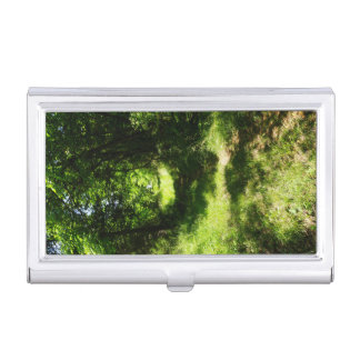 Peaceful Country Pathway Business Card Holder