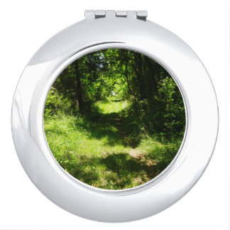 Peaceful Country Pathway Compact Mirror