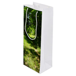 Peaceful Country Pathway Wine Gift Bag