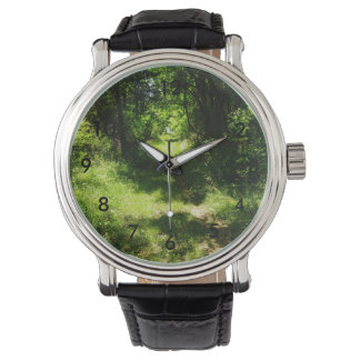 Peaceful Country Pathway Wristwatch